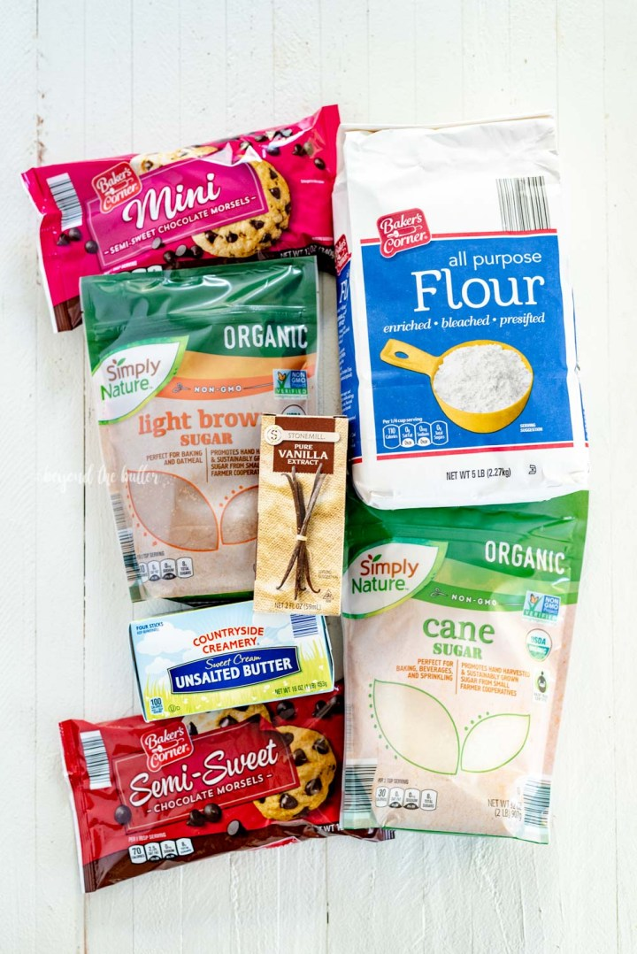 Ingredients needed to make Chocoalte Covered Cookie Dough Hearts | All Images © Beyond the Butter, LLC