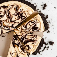 Chocolate Peanut Butter Swirl Tart