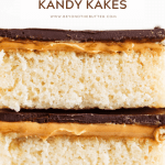 Pinterest image of stacked peanut butter kandy kakes | All Images © Beyond the Butter™