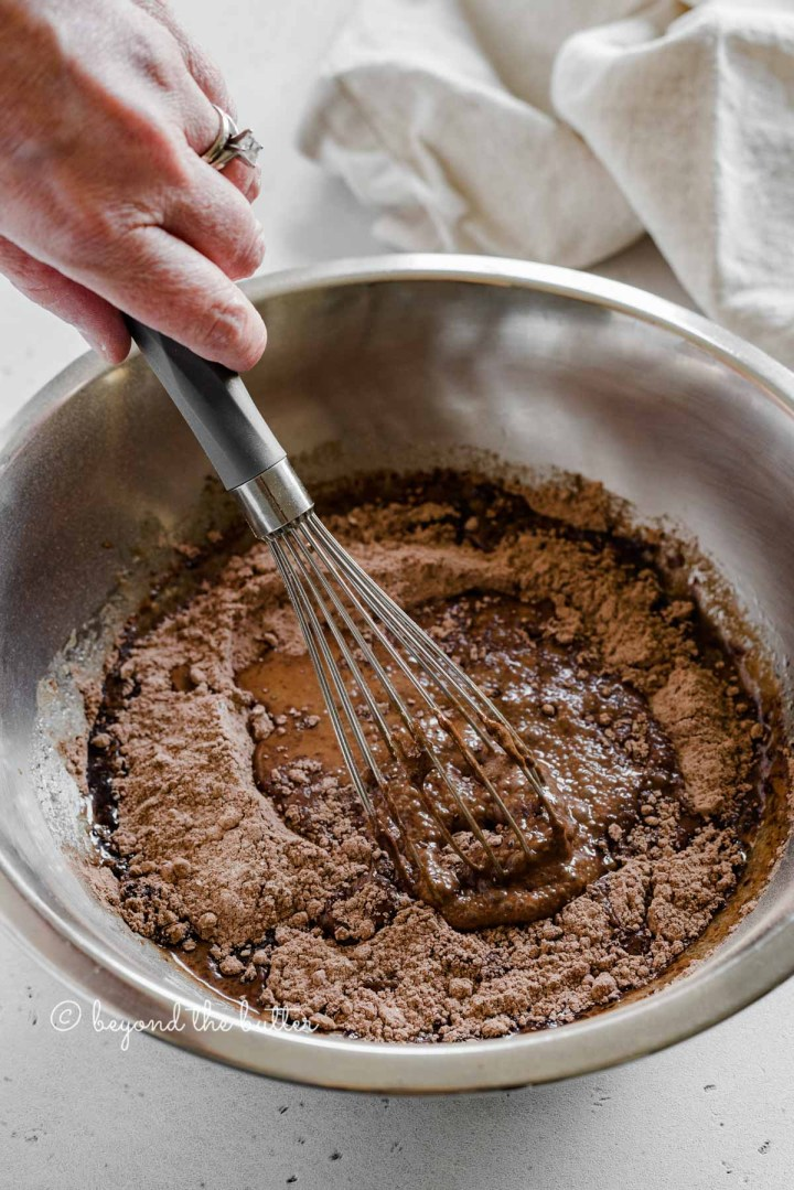 Process shot of making small batch chocolate cupcakes | All images © Beyond the Butter™