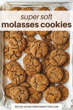 Image of super soft molasses sugar cookies from BeyondtheButter.com | All Images © Beyond the Butter®