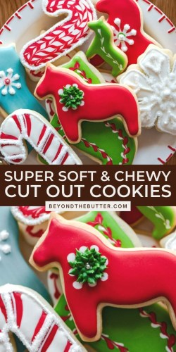 Pinterest images of the best cut out sugar cookies from Beyond the Butter® | All Images © Beyond the Butter®