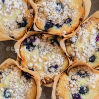 Bakery Style Lemon Blueberry Streusel Muffins
