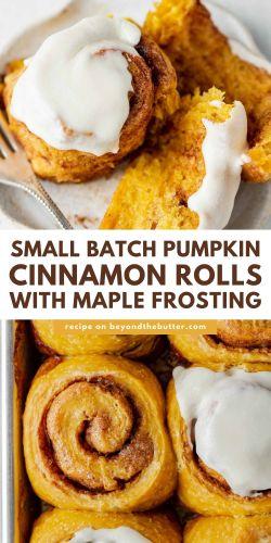 Images of pumpkin cinnamon rolls from BeyondtheButter.com | © Beyond the Butter®