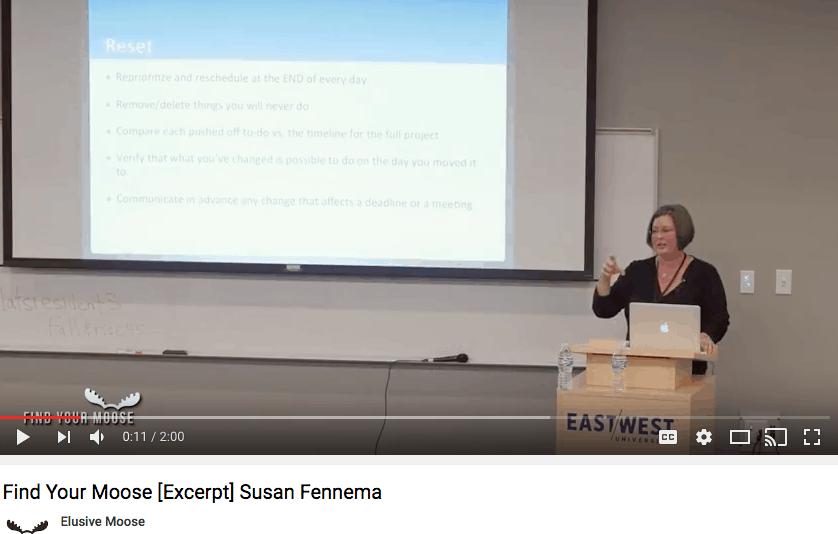 Susan speaks on work-life balance