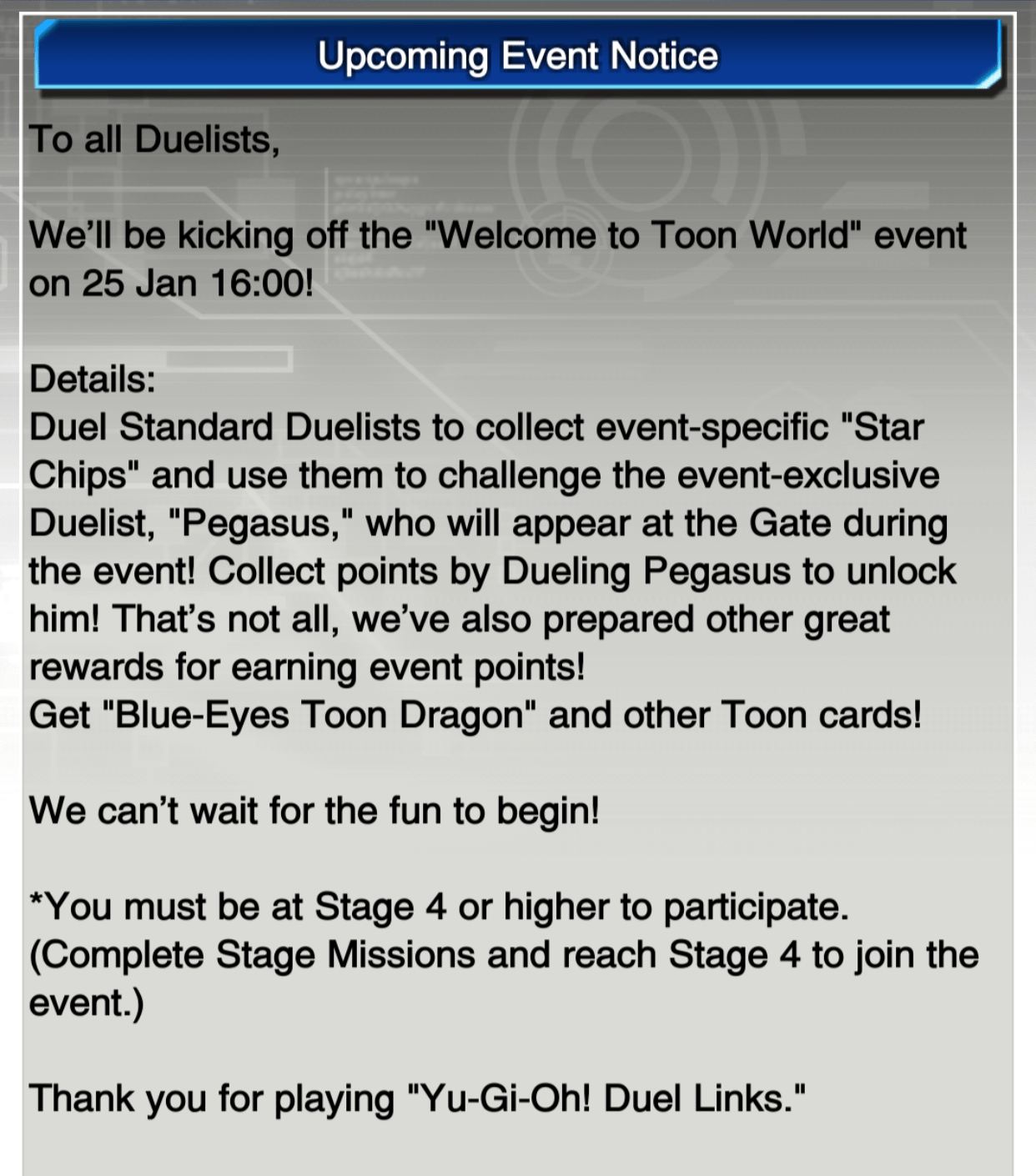 duel links campaign welcome to toon world beyond the duel