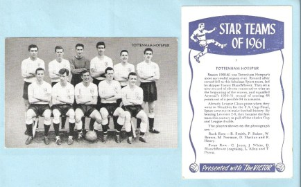 The Victor comic Teams of 1961 card (1961)