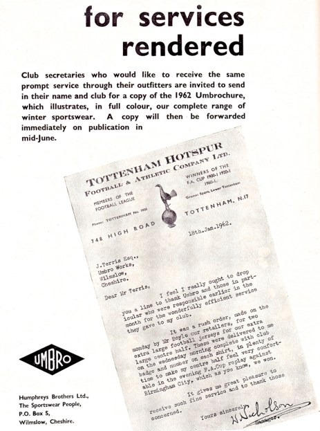 Umbro 1962