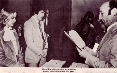 Michel Platini wedding, 1977