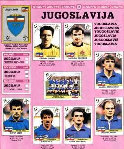 World Cup 1990 Yugoslavia 1