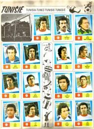 World Cup 1978 FKS Album: Tunisia