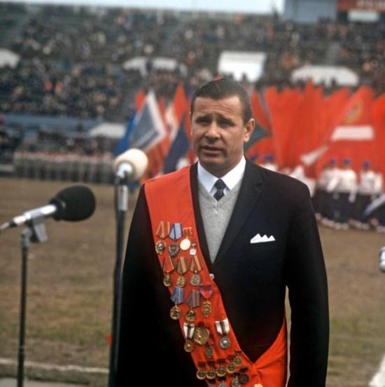 Lev Yashin opening of 1971 Spartaklad