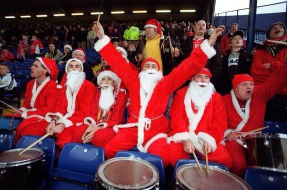 Bristol City Santas at Hillsborough