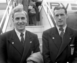 Billy Wright & Nat Lofthouse on England duty in 1952
