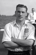 Nat Lofthouse representing England in 1951