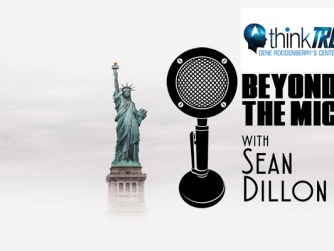 Beyond the Mic logo with Think Trek logo for Rod Roddenberry interview