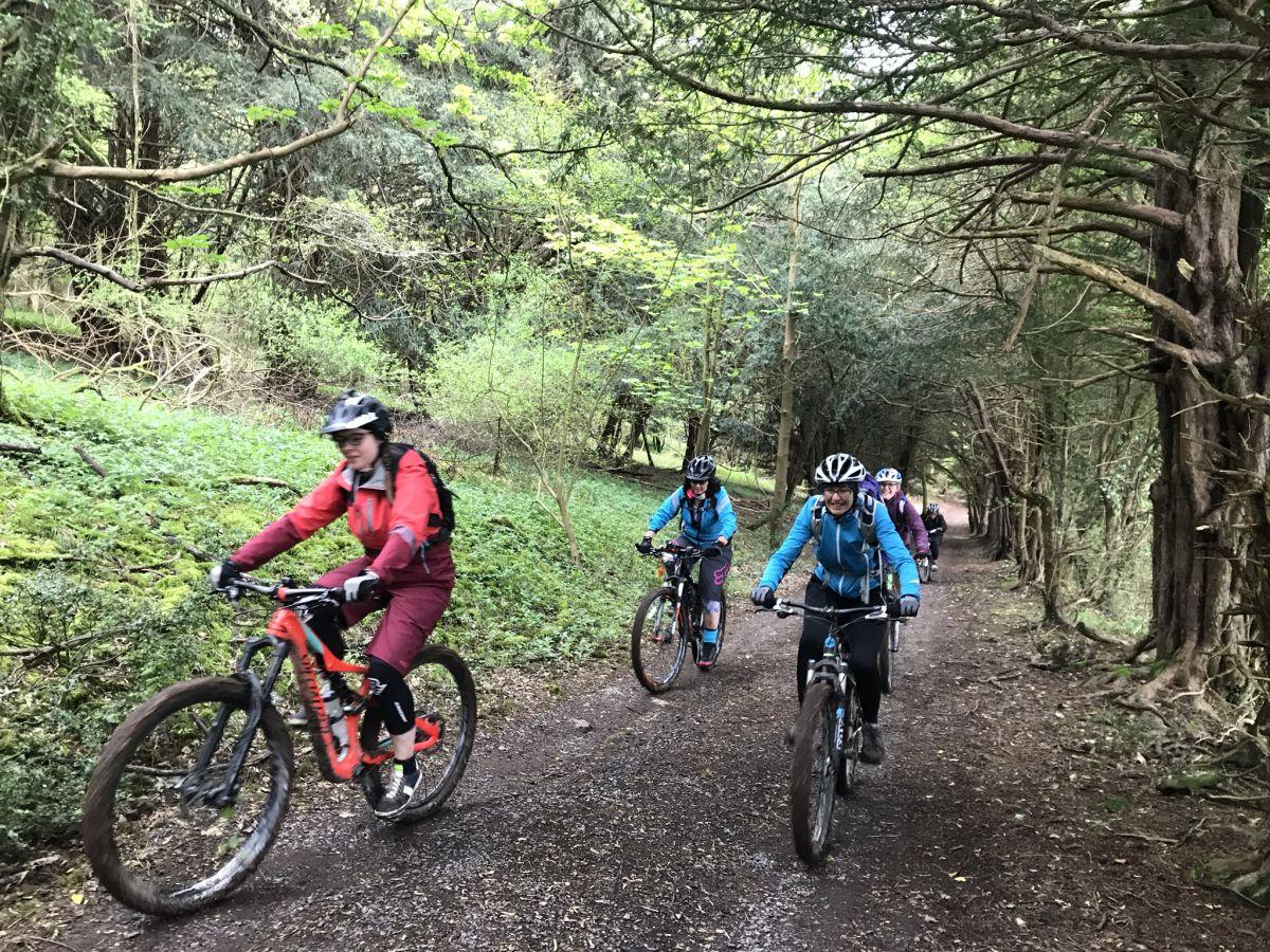 Womens mountain bike skills coaching