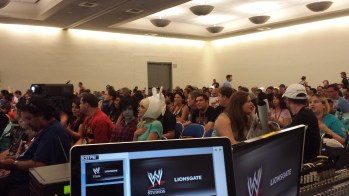 The crowd at ComicCon panel