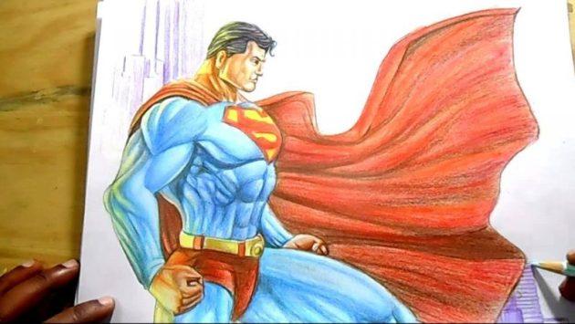 Superman Drawing