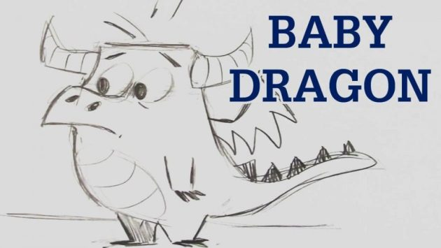 Baby Dragon Drawing
