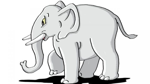 Child Elephant Drawing