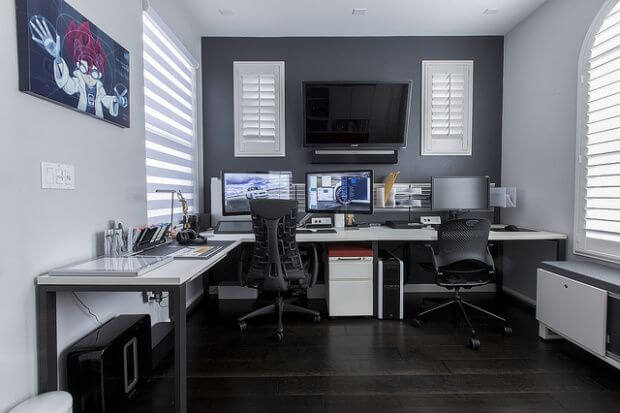 Striking home office of walmart #homeoffice #office #design #homedecor #homework #work