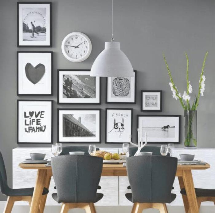 Grey Dinning Room Paint Color Ideas 1