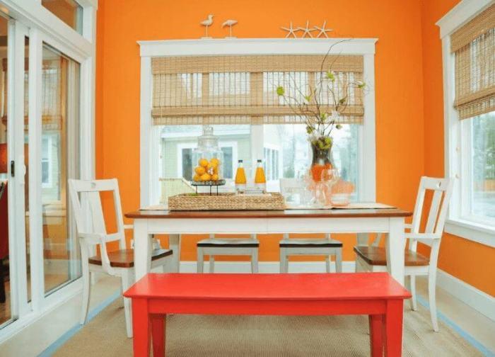 Orange Dinning Room Paint Color Ideas