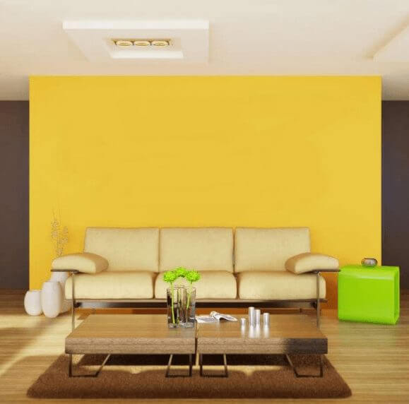 Yelow Living Room Color Modern