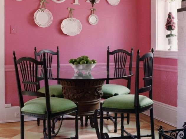 Pink Dinning Room Paint Color