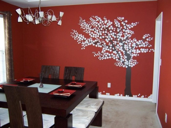 Red Dinning Room Paint Color Ideas