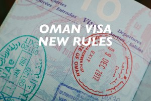 oman visa new rules, mandatory evisa, required e-visa
