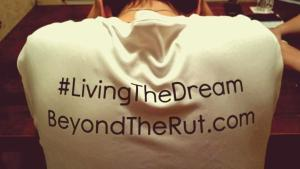 Beyond the Rut t-shirt back