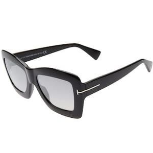 TOM FORD Hutton 55mm Rectangular Sunglasses