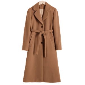 & other stories A-Line Wool Blend Belted Coat