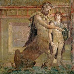 The Education of Achilles, a fresco from a villa at Herculaneum, near Pompeii.