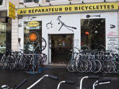 R is for Réparateur de Bicyclettes - bicycle repair man