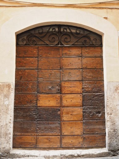 old panelled door Trastevere