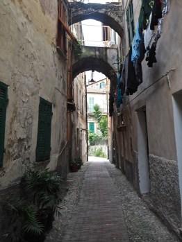 medieval street Ventimiglia