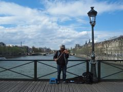 And springtime music on the same bridge - March 2017