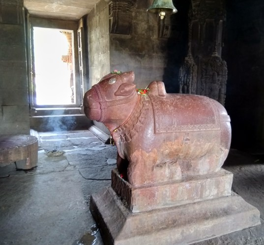 Nandi in the Garbhgripha of Neelkantheshwar Udaypur