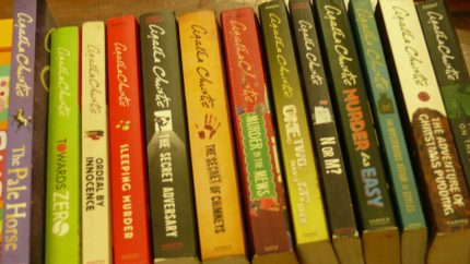 Collection of different books of Agatha Christie