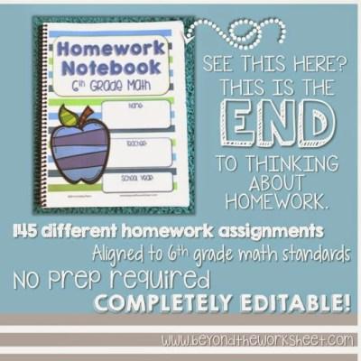 A FULL Year of Homework… DONE!