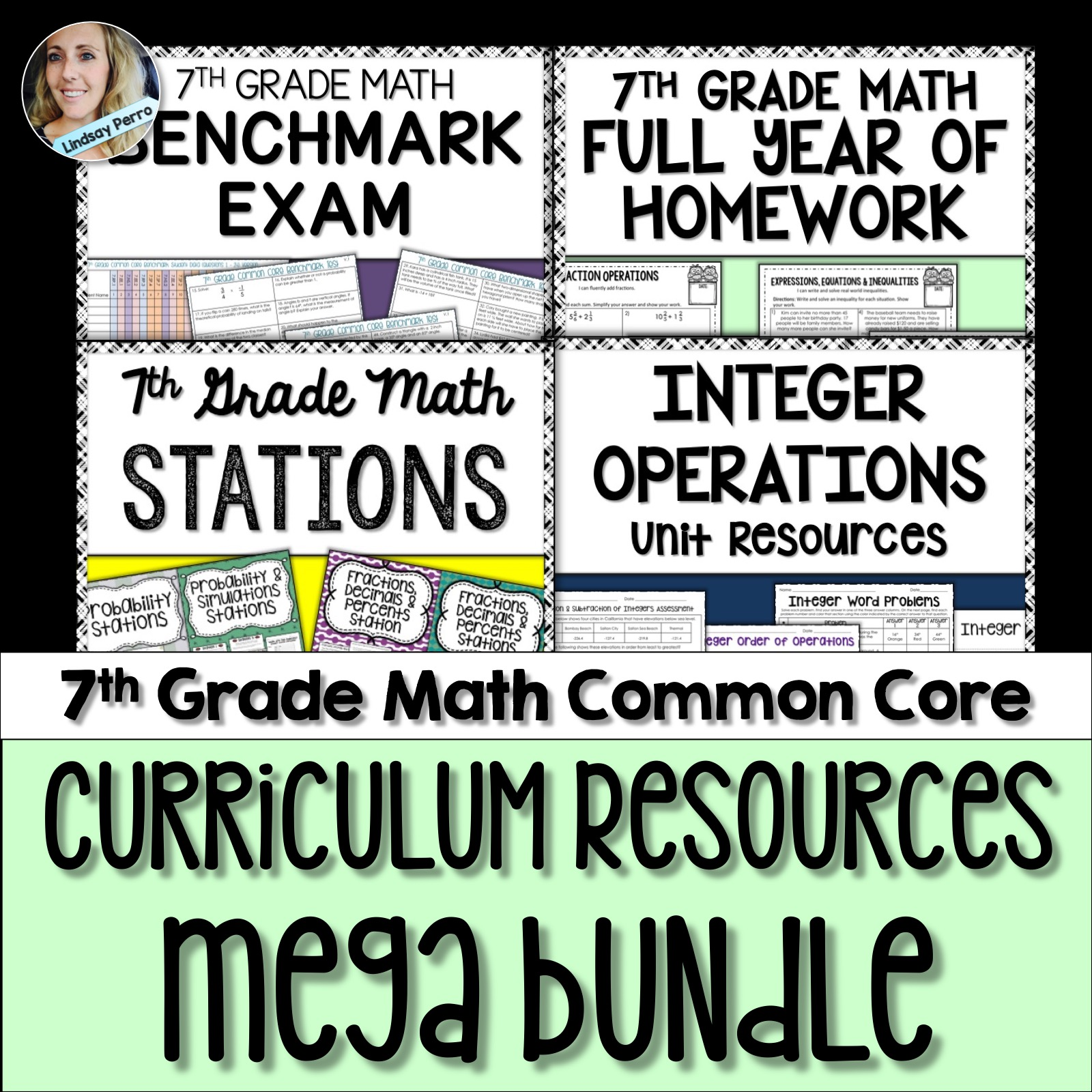 7th Grade Math Curriculum Resources Activity Bundle