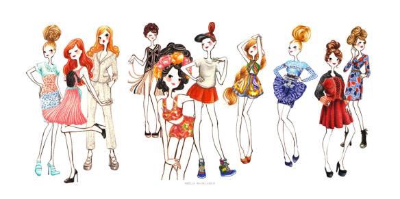 Jolis dessins cirque de papier Maëlle R