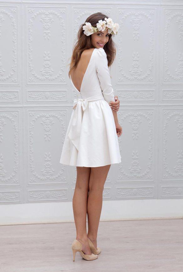 robe de mariée courte Kate Marie Laporte 2015 dos