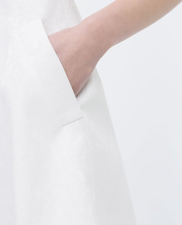 Robe en jacquard zara zoom poche