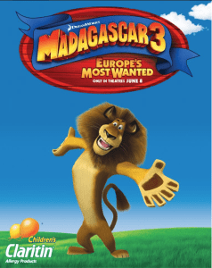 Madagascar 3 Opens Friday June 8Th #ChildrensClaritinParty