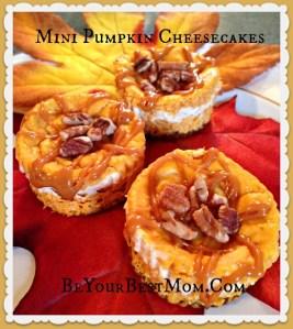 Mini Pumpkin Cheesecakes #goodcookcom #goodcookkitchenexprt #Thanksgivingtips