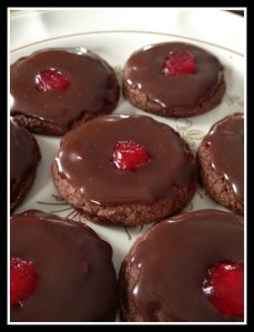 Double Chocolate Cherry Cookies Recipe #SweetCreations #GoodCookCom